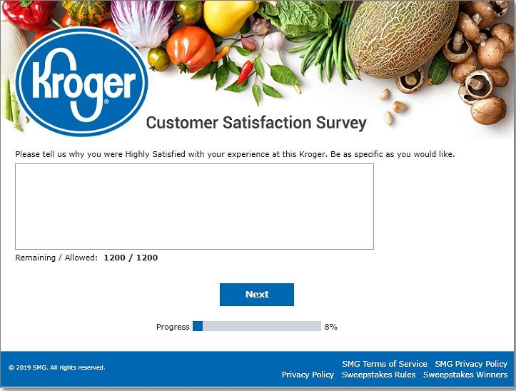 Tell the experience at kroger