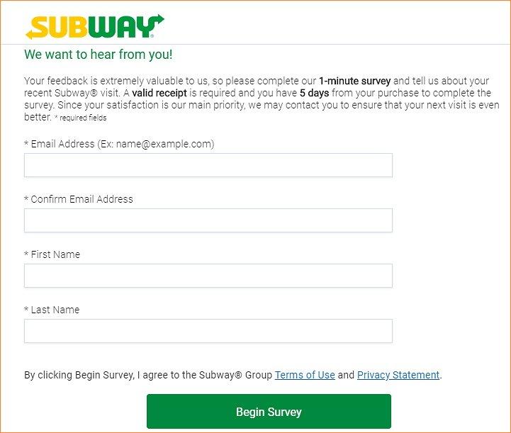 Www.Global.Subway.Com homepage